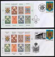 Scout memorial sheet set on 4 FDC, Cserkészek az I világháborúban emlékív garnitúra 4 db FDC-n