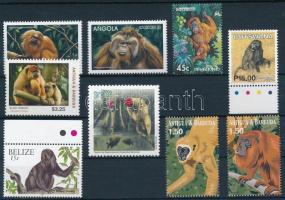 1994-2013 Majom motívum 9 klf önálló érték 1994-2013 Monkey 9 diff stamps