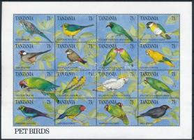 Madarak kisív Birds mini sheet