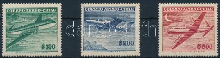 1955 Repülőgépek sor Mi 501-503