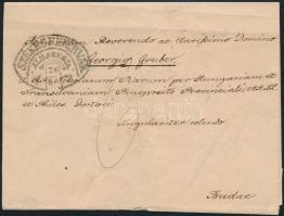1847 Levél 6kr portóval / Cover with 6kr postage due SZÉKESFEHÉRVÁR / ALBAREGIA - Buda (Gudlin 800 p) (javított / repaired)