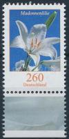 Virág ívszéli Flower margin stamp