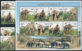 2003 Elefánt sor + kisív Mi 3304-3307