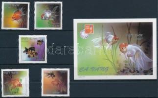 Halak, bélyegkiállítás sor + blokk Fishes, Stamp Exhibition set + block