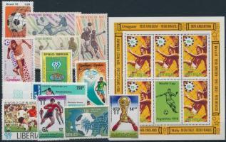 1977-1978 Labdarúgó-világbajnokság motívum 12 klf bélyeg + blokk 1977-1978 Football World Cup 12 stamps + block