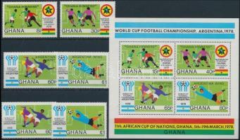 Labdarúgó-világbajnokság sor + blokk Football World Cup set + block
