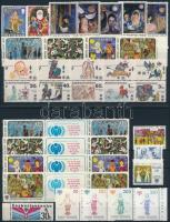 Nemzetközi Gyermekév motívum 9 klf sor + 1 kisív + 6 db önálló érték 3 stecklapon International Children's Year 9 set + 1 minisheet + 6 stamp