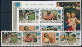 Nemzetközi Gyermekév sor + blokk International Year of Children set + block