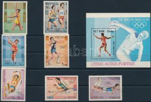 1983 Olimpia sor Mi 1344-1350 + blokk Mi 20