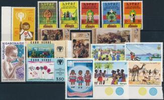 1979-1980 Nemzetközi gyermekév motívum 4 klf sor + 3 db önálló érték 1979-1980 International Children's Year 4 set + 3 stamp