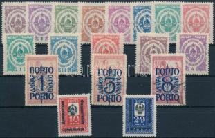 1920-1945 4 kfl portó sor 1920-1945 4 postage due set