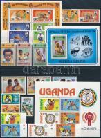Nemzetközi gyermekév motívum 8 klf sor + 3 db blokk 3 stecklapon International Children's Year 8 set + 3 block