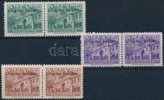 Saigon felülnyomott sor párokban Saigon set with overprint in pairs
