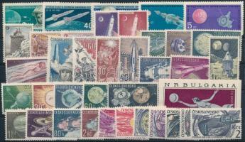 Űrkutatás 1962-1966 7 klf sor + 1 blokk + 1 önálló érték Space Research 1962-1966 7 sets + 1 block + 1 stamp
