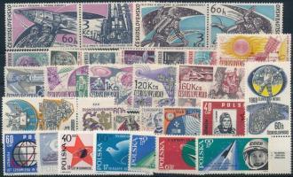 Űrkutatás 1963-1965 7 klf sor + 5 klf önálló érték Space Research 1963-1965 7 set + 5 stamps