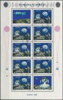 Űrkutatás kisív Space Research mini sheet