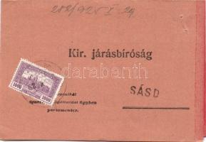 1925 (15. díjszabás) Parlament 1000K kézbesítési bizonyítványon