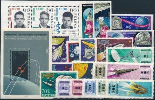 Űrkutatás 1959-1964 4 klf sor + 2 klf blokk Space Research 1959-1964 4 sets + 2 blocks