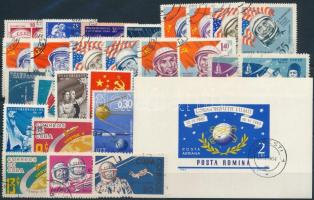 Űrkutatás 1958-1967 4 klf sor + 9 klf önálló érték + 1 blokk Space Research 1958-1967 4 sets + 9 stamps + 1 block