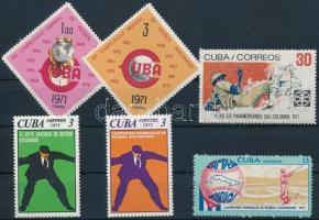 1971-1972 Baseball 6 klf bélyeg 1971-1972 Baseball 6 stamps