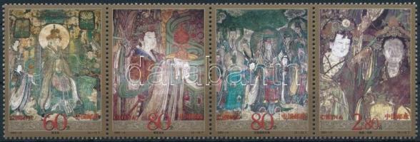 Church murals set in stripe of 4, Templomi falfestmények sor négyescsíkban