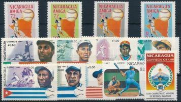 1972-1994 Baseball 2 sets + 2 stamps 1972-1994 Baseball 2 klf sor + 2 önálló érték