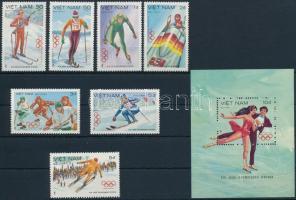 1984 Téli olimpia, Szarajevó sor Mi 1402-1408 + blokk 24