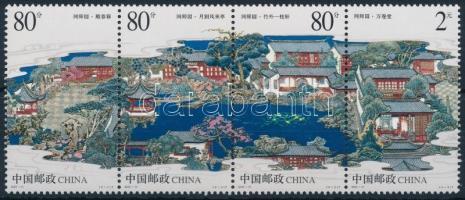 Suzhou park sor négyescsíkban Suzhou park set stripe of 4