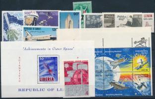 Űrkutatás 1962-1987 1 sor + 1 nyolcastömb + 1 blokk + 4 klf önálló érték Space Research 1962-1987 1 set + 1 block of 8 + 1 block + 4 stamps