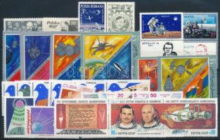 Űrkutatás 1969-1983 3 klf sor + 13 klf önálló érték Space Research 1969-1983 3 sets + 13 stamps