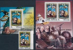 Kepler ívszéli bélyeg + kisív + blokk Kepler margin stamp + minisheet + block