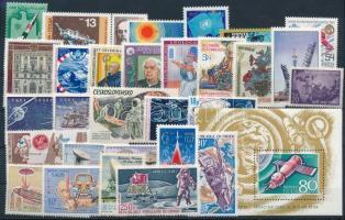 Űrkutatás 1962-1975 2 klf sor + 1 blokk + 25 klf önálló érték Space Research 1962-1975 2 sets + 1 block + 25 stamps