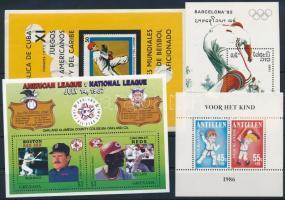 1970-1989 Baseball 4 klf blokk 1970-1989 Baseball 4 diff blocks