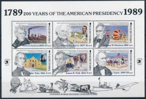 Amerikai elnökök kisív American Presidents mini sheet