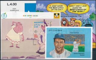 1955-1993 Baseball 5 klf blokk 1955-1993 Baseball 5 diff blocks