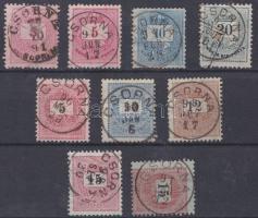 1881-1898 9 db bélyeg / 9 stamps CSORNA
