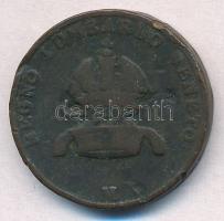 Olasz Államok / Lombardia-Velence 1822V 5c Cu T:3,3- ph. Italian States / Lombardy-Venetia 1822V 5 Centesimi Cu C:F,VG edge error