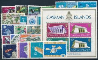 Space Research 1964-1973 3 sets + 13 stamps + 1 block, Űrkutatás 1964-1973 3 klf sor + 13 klf önálló érték + 1 blokk