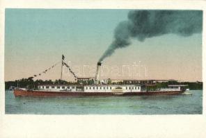SS Budapest folyami utasszállító gőzhajó / Hungarian passenger steamship (EK)