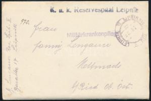 """Field postcard """"K.u.K. Reservespital Leipnik"""" Tábori posta levél """"K.u.K. Reservespital Leipnik"""""""