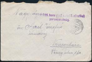 """Tábori posta levél """"M.kir. 305 honv. gyal. ezred II. zászlóalj parancsnokság"""" + """"FP 397"""" Field postcard """"M.kir. 305 honv. gyal. ezred II. zászlóalj parancsnokság"""" + """"FP 397"""""""