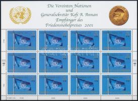 Nobel-békedíj kisív Nobel Peace Prize mini sheet
