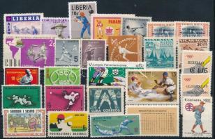 1948-1988 Sport 26 stamps, 1948-1988 Sport összeállítás 26 klf bélyeg