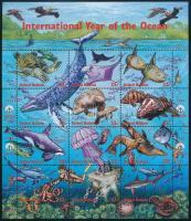 Óceánok éve kisív Year of Oceans mini sheet