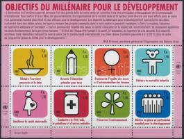 Az ENSZ fejlesztési célkitűzései kisív UN Development Goals mini sheet