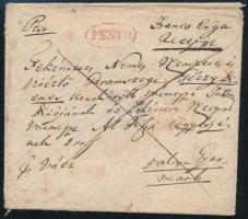1830 Franco ergs recepisse piros / red PESTH - Balassa Gyarmath