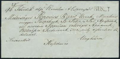 1847 Hivatalos levél / Official cover HUSZT - Unghvár