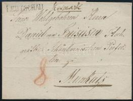 1828 Portós levél / Unpaid cover LEUTSCHAU + Kesmark - Munkats