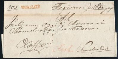 1825 Ex offo piros / red NAGYBÁNYA - Szomolnok