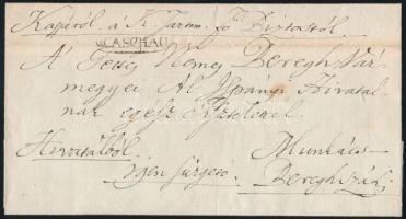 1834 Hivatalos levél / Official cover v.CASCHAU - Munkács-Bereghszász